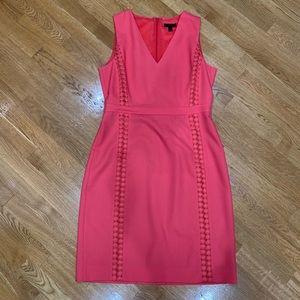 J.Crew gorgeous bright coral 100% wool dress
